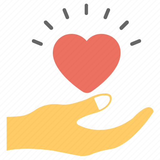 blood donation, care, charity, hand holding heart, love icon