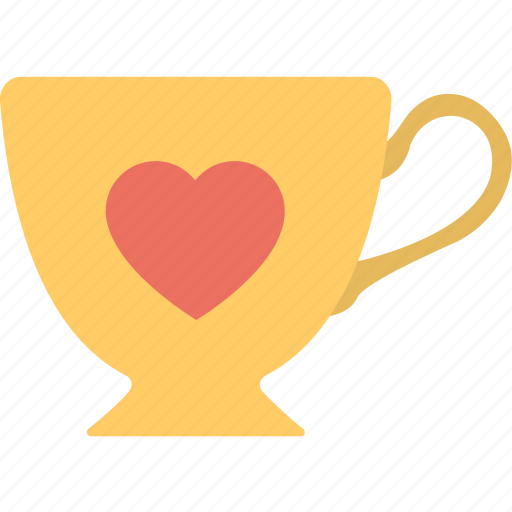 coffee cup, heart symbol, inspirations, love, teacup icon