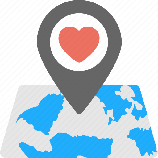 favorite location, heart pin, love, love place, map icon