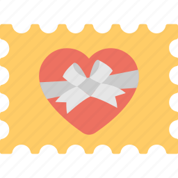 gift card, heart stamp, holiday, love stamp, postmark icon