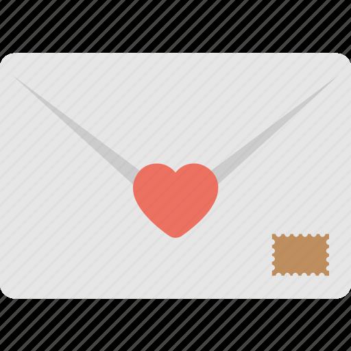 envelope, heart, love letter, message, post icon