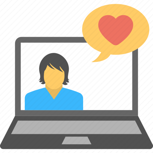 affection, girl, love, online, video icon