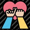 pledge, honesty, oath, friendship, community, promise icon