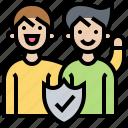confident, friend, honesty, partner, trustworthy icon