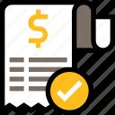 payment, finance, business, bill, success, approved, receipt