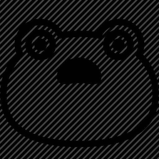emoji, emotion, expression, face, feeling, frog, shocked icon