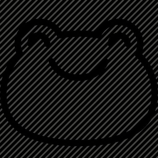 emoji, emotion, expression, face, feeling, frog, smile icon