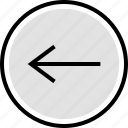 arrow, back, internet, left, online, web icon
