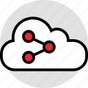 activity, cloud, data, internet, online, share icon