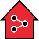 activity, home, internet, network, networking, online icon