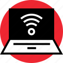 activity, internet, laptop, mac, online, pc, signal icon