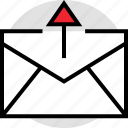 activity, email, internet, mail, online, send, up icon