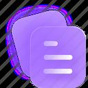 document, paper, files icon