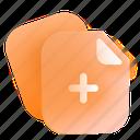 paper, plus, add icon