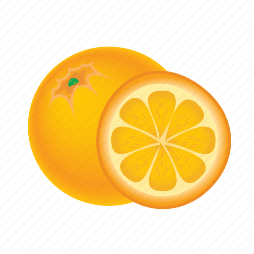 food, fruit, healthy, meal, orange, sweet icon