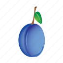 food, fruit, healthy, meal, plum, sweet icon