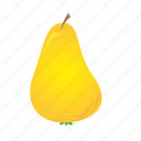 food, fruit, healthy, meal, pear, yellow icon