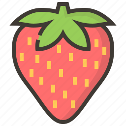 diet, fruits, health, strawberry, tropical icon
