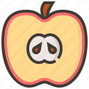 apple, diet, fruits, health, tropical icon