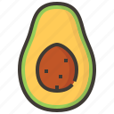 avocado, diet, fruits, health, tropical icon
