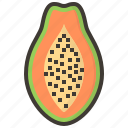 diet, fruits, health, papaya, tropical icon