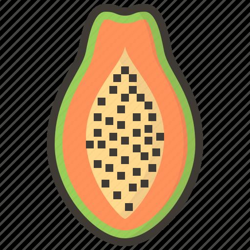 diet, fruits, health, papaya, tropical icon