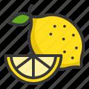 food, fruit, healthy, lemon, lime, vitamin icon