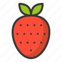food, fruit, healthy, strawberry, vitamin icon