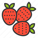 food, fruit, healthy, strawberries, vitamin icon
