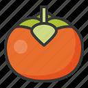 food, fruit, healthy, persimmon, vitamin icon