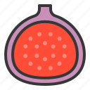 fig, food, fruit, healthy, vitamin icon