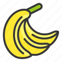 banana, food, fruit, hand of bananas, healthy, vitamin icon