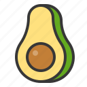 avocado, food, fruit, healthy, vitamin icon