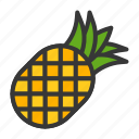 food, fruit, healthy, pineapple, vitamin icon