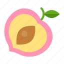 food, fruit, healthty, peach, vitamin icon