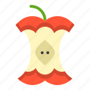 apple, apple core, food, fruit, healthty, vitamin icon