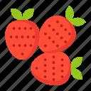 food, fruit, healthty, strawberries, strawberry, vitamin icon