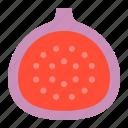 fig, food, fruit, healthty, vitamin icon