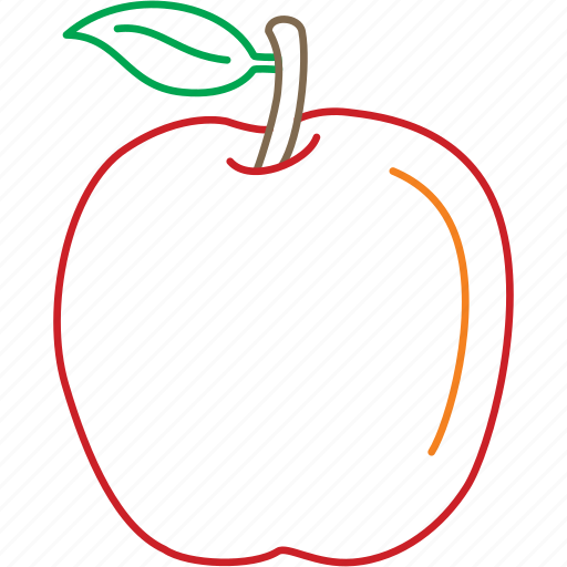 apple, fruits, idared, red apple icon