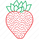 berries, fruits, strawberries, strawberry icon