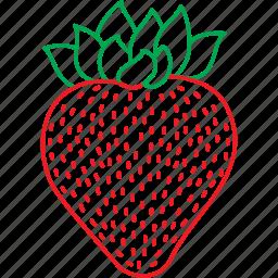 berries, fruits, strawberries, strawberry icon