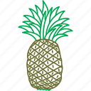 fruit, fruits, pinapples, pineapple icon