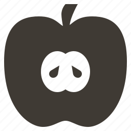 apple, diet, food, fruits, health, solid, tropical icon