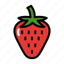 food, fresh, fruit, healthy, vegetarian icon