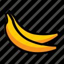 banana, food, fresh, fruit icon