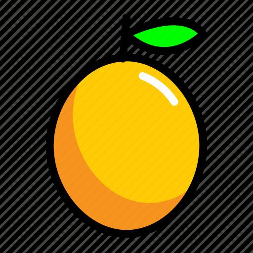 food, fresh, fruit, lemon icon