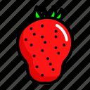 food, fresh, fruit, strauberry icon