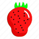 food, fresh, fruit, strauberry icon