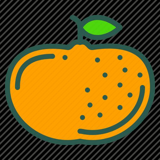 food, fruit, healthy, mandarin, orange icon
