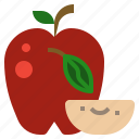 apple, diet, food, fruit, vegetarian icon
